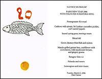 Parsi New Year's menu at Chez Panisse.
