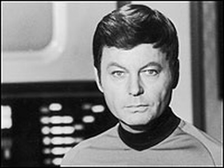 Image of Star Trek actor DeForest Kelley