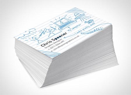 Thiết kế Card visit giống như đã được in và chụp lại