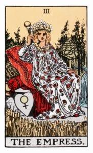The Empress Tarot Birth Card (Rider-Waite Tarot Deck)