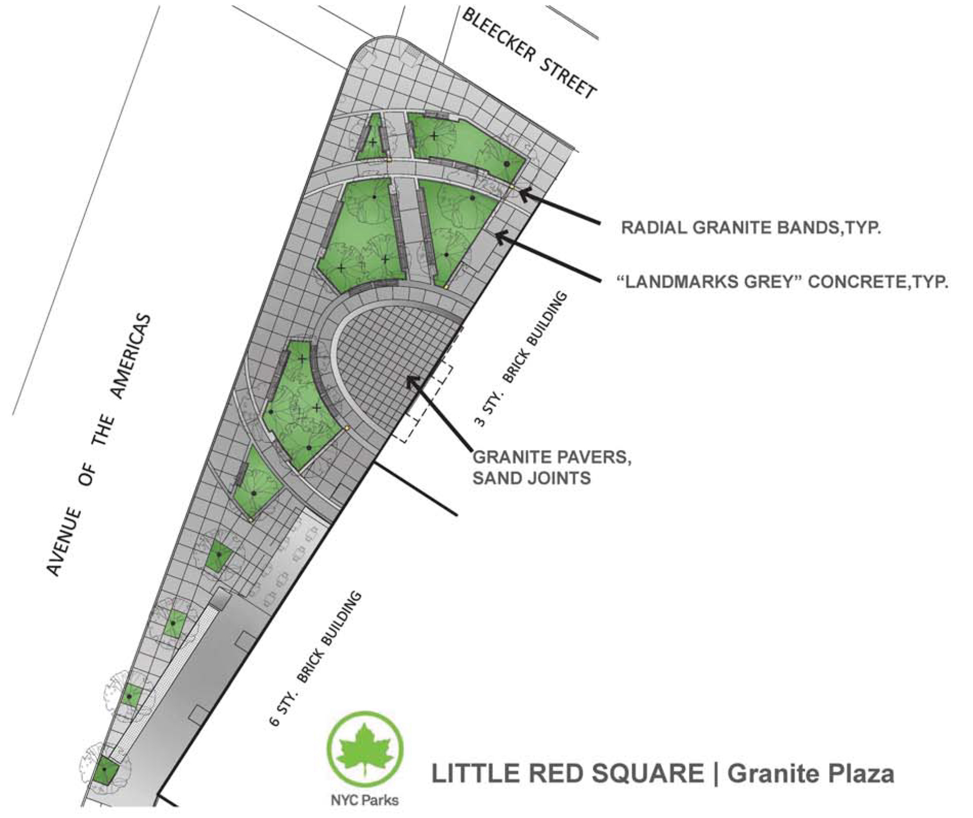 Little Red Square Reconstruction Nyc Parks