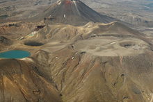 An aerial from a Mountain Air flight over the Tongariro National Park. Photo / Greg Bowker
