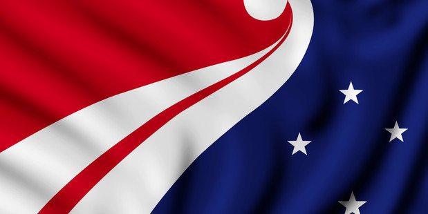 This flag design won the competition. Photo / Supplied