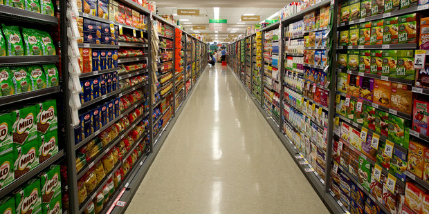 """Almost 85 per cent of packaged foods on supermarket shelves are classified as being """"ultra-processed"""". Photo / Brett Phibbs"""