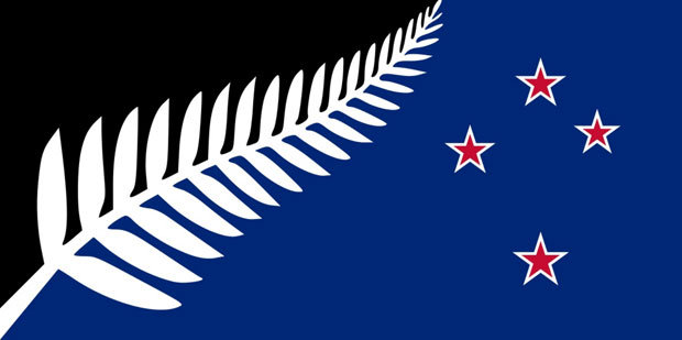 Silver Fern (Black, White and Blue) - by Kyle Lockwood