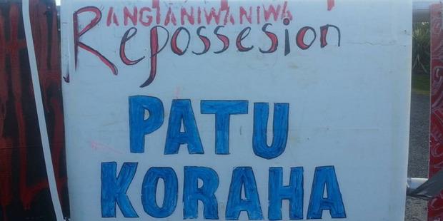 Ngati Kahu Iwi occupy the Kaitaia airport. Photo / Supplied via Facebook
