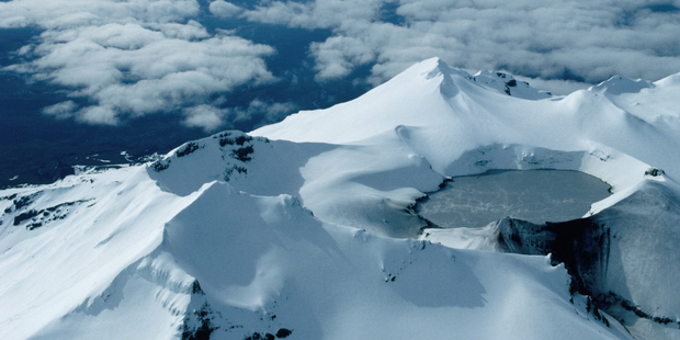 The temperature of the crater lake at the top of Mt Ruapehu has risen in temperature. Photo / Getty Images