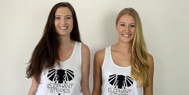 Francesca Logan, left, and Jordan Abrahams, both 23, founded Elephant Stripes, a retailer that specialises in travel gear for women. Photo / Supplied
