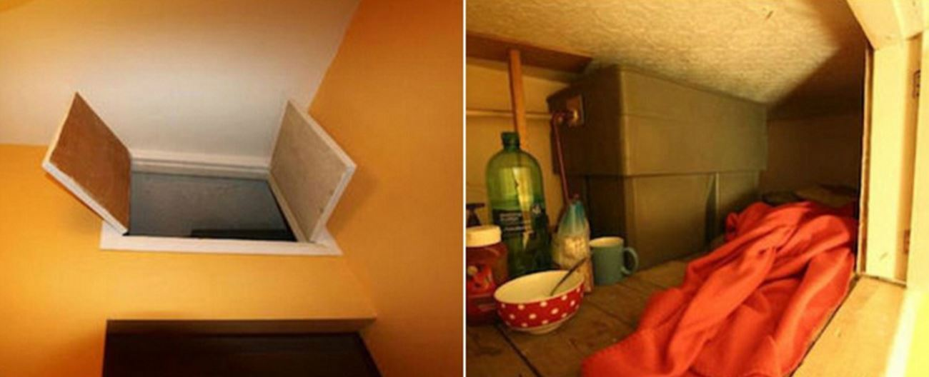 In London, a tiny storage cabinet metres above the ground doubles as a Harry Potter home. Photo / Worstroom.com