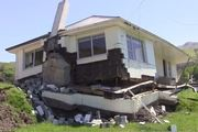 A house severely damaged by the Kaikoura quake was lifted up and moved more than eight metres sideways. Photo / GNS