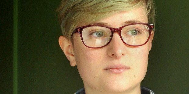 "Scout Barbour-Evans, a Dunedin transgender activist who goes by the gender-neutral pronoun ""they"", said an officer knocked on their door about 10 this morning. Photo / Otago Daily Times"