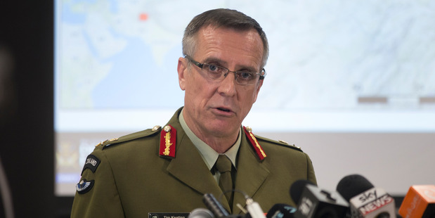 Defence Force Chief, Lieutenant General Tim Keating, during a press conference in Wellington on the allegations made in the book Hit & Run. Photo / Mark Mitchell