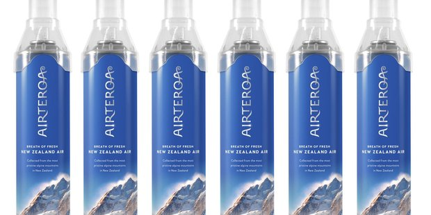 Airteroa sells cans of Southern Alps air for $35 a can online. Photo / Supplied