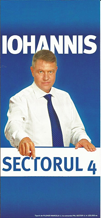 iohannis afis electoral