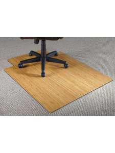 Realspace Bamboo Chair Mat 36 W X 48 D 316 Thick Natural Office Depot