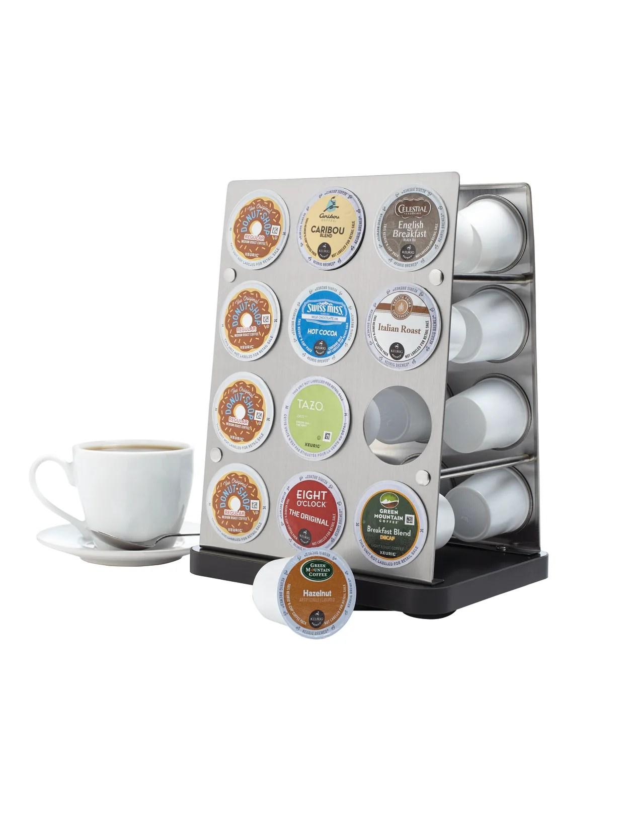 gnbi stainless steel coffee pod rack silver item 784382