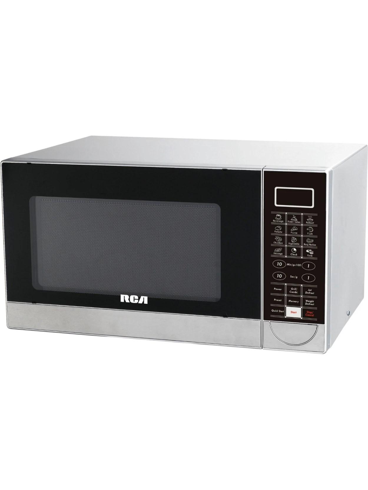 rca rmw1182 microwave oven single 8 23 gal capacity microwave grilling 10 power levels 1000 w microwave power 1000 w grill power