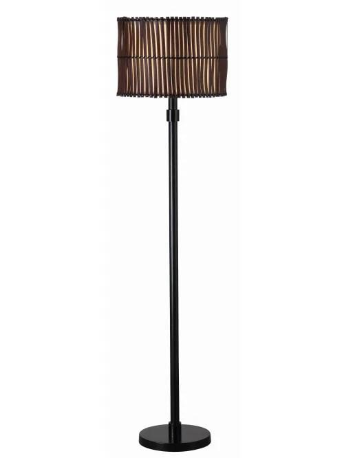 kenroy home bora outdoor floor lamp 59 h tan and brown shade bronze base item 232822