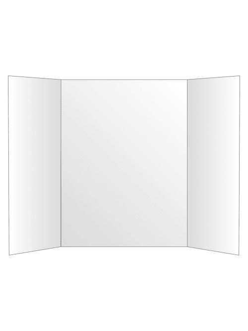 office depot brand tri fold project board 36 x 48 white item 434415