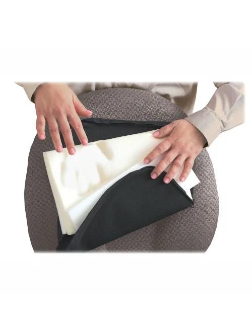 master memory foam lumbar support cushion 7 1 2 h x 12 1 2 w x 2 1 2 d black item 685485