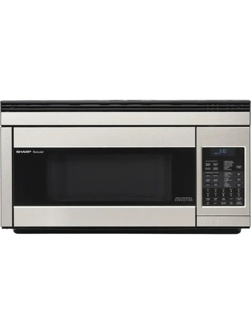 sharp r1874t 1 1 cu ft over the range microwave stainless steel item 823710