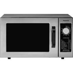 panasonic 1000 watt commercial microwave oven ne 1025f single 5 98 gal capacity microwave 1000 w microwave power 120 v ac stainless steel