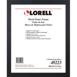lorell poster frame 16 x 20 frame size rectangle horizontal vertical 1 each black item 4163218
