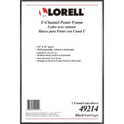 lorell poster frame 24 x 36 frame size rectangle horizontal vertical 1 each black item 7205331