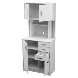 inval america corner microwave storage cabinet 72 13 16 h x 19 15 16 w x 31 1 2 d white item 9727216