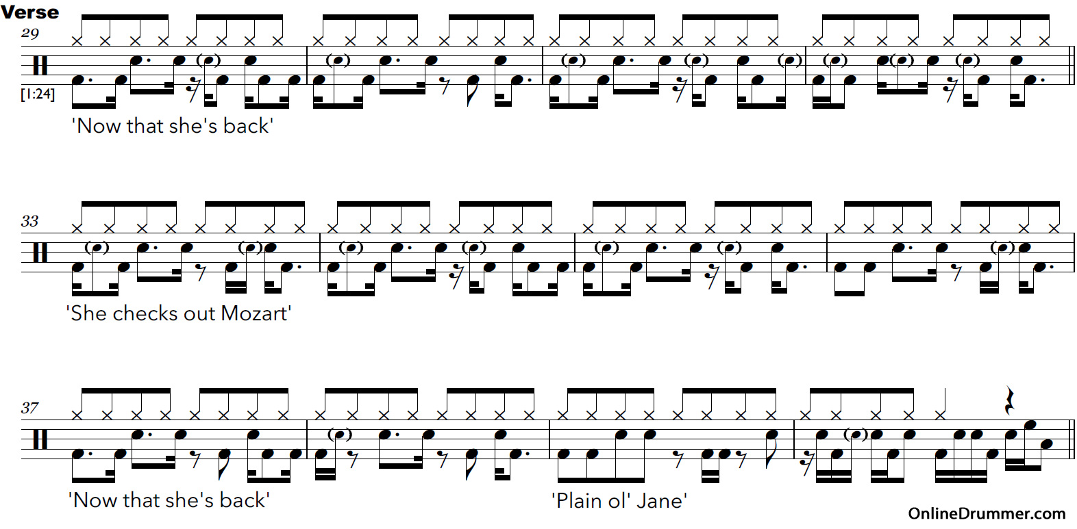 Make Drum Sheet Music Online Free