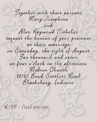 Wedding Ceremony Wordings