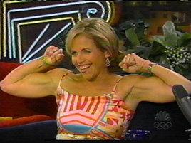Katie flexing