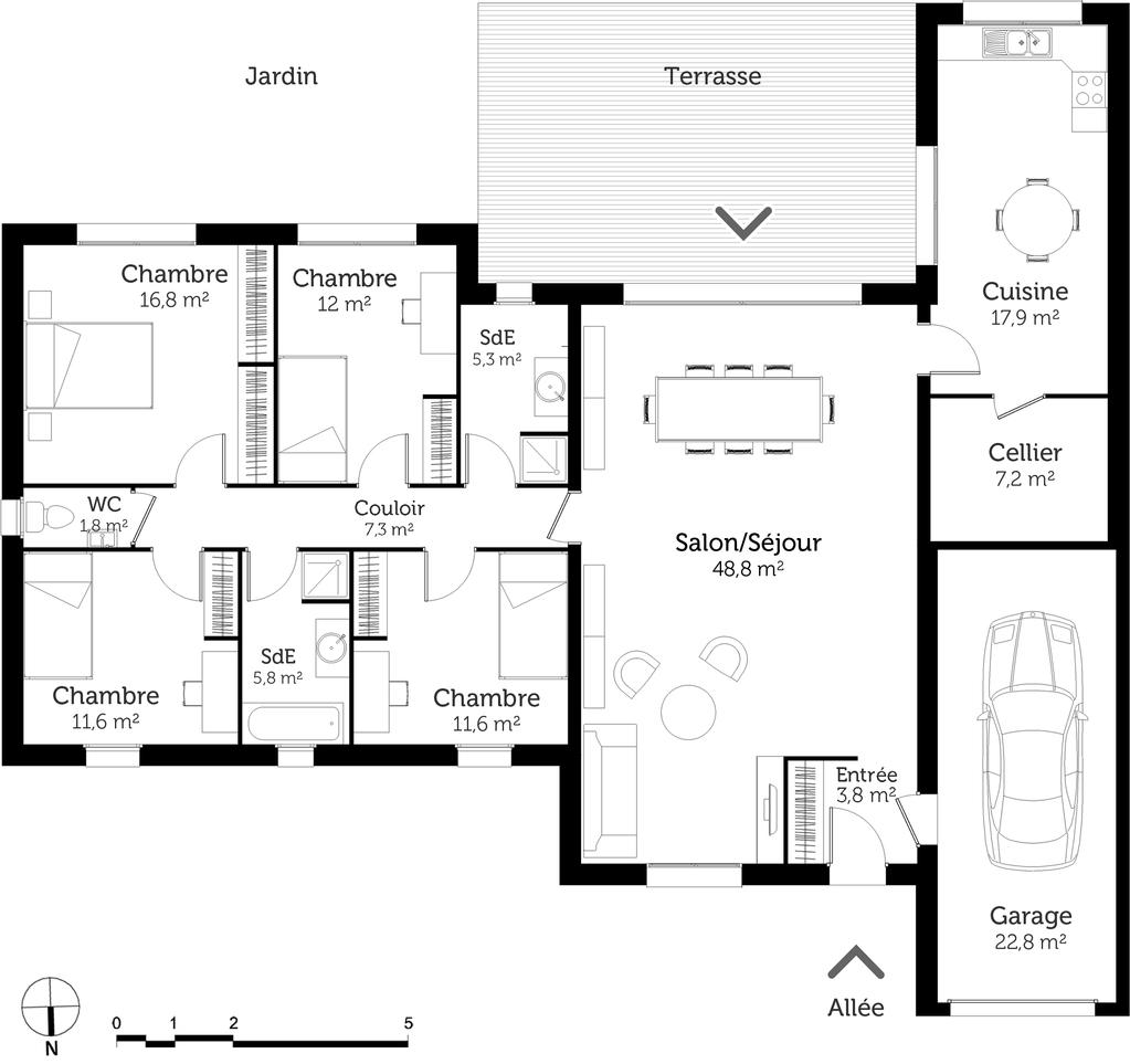 Plan Maison De Plain Pied 150 M Ooreka