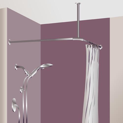 poser un rideau de douche douche
