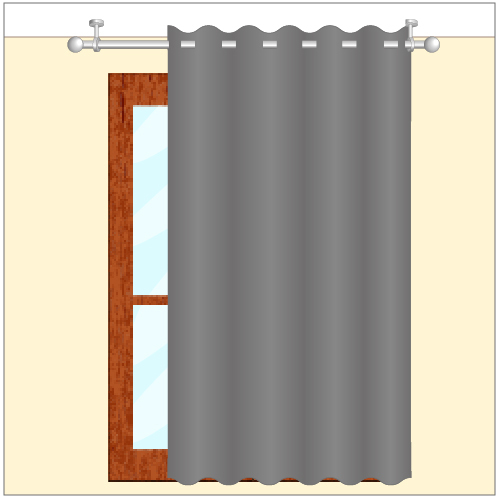 poser une tringle au plafond rideaux