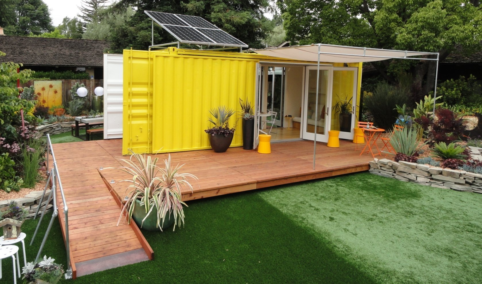 Best Kitchen Gallery: From The Home Front Tiny Cargo Container House Is Sunset Idea House of Off Grid Shipping Container Homes  on rachelxblog.com