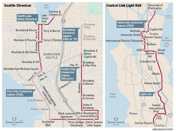 Seattle Light Rail Route Map Adiklight Co