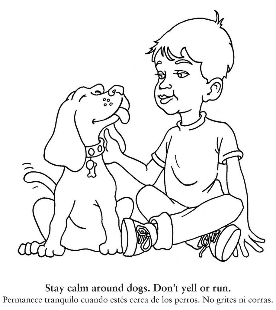 Dog Safety Coloring Book Coloring Page