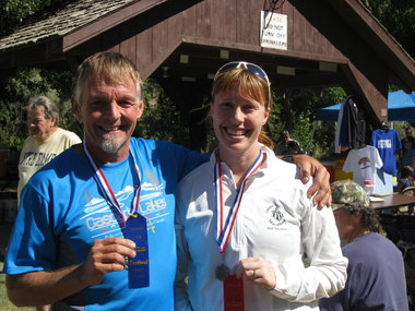 After the 2011 Painted Hills Half Marathon, 10k and 5k in Mitchell, Ore. This guy, whom I met that day, went to high school with my running friend Chuck Coates. Small race? Yes, and a small world!