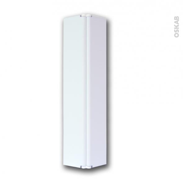 raccord de plinthe de cuisine jonction d angle ou droite hauteur 15 cm blanc brillant sokleo