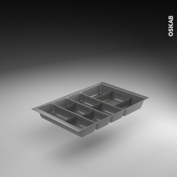 range couverts tiroir l40 cm anthracite avec separateurs modulable sokleo