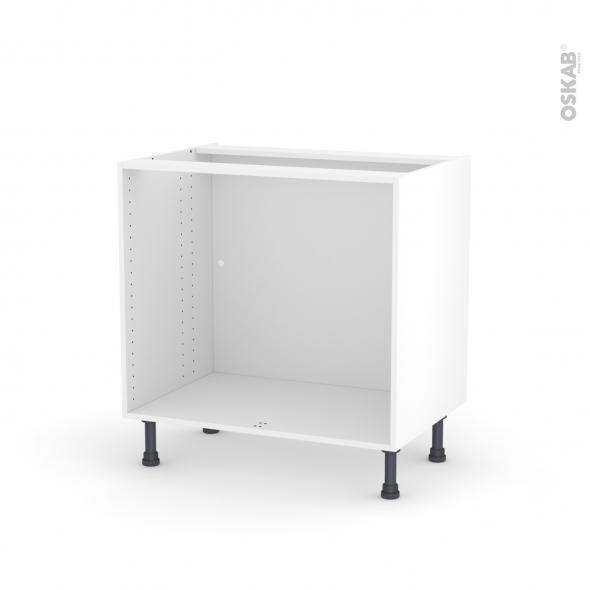 caisson bas n 8 meuble de cuisine l80 x h70 x p56 cm sokleo