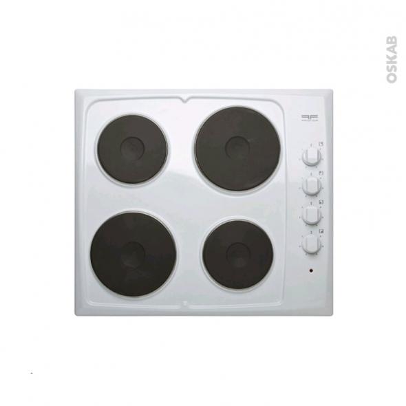plaque de cuisson 4 feux electrique 60 cm blanc frionor geblfri