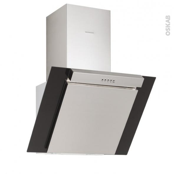 hotte de cuisine aspirante inclinee 90 cm noire silverline kim