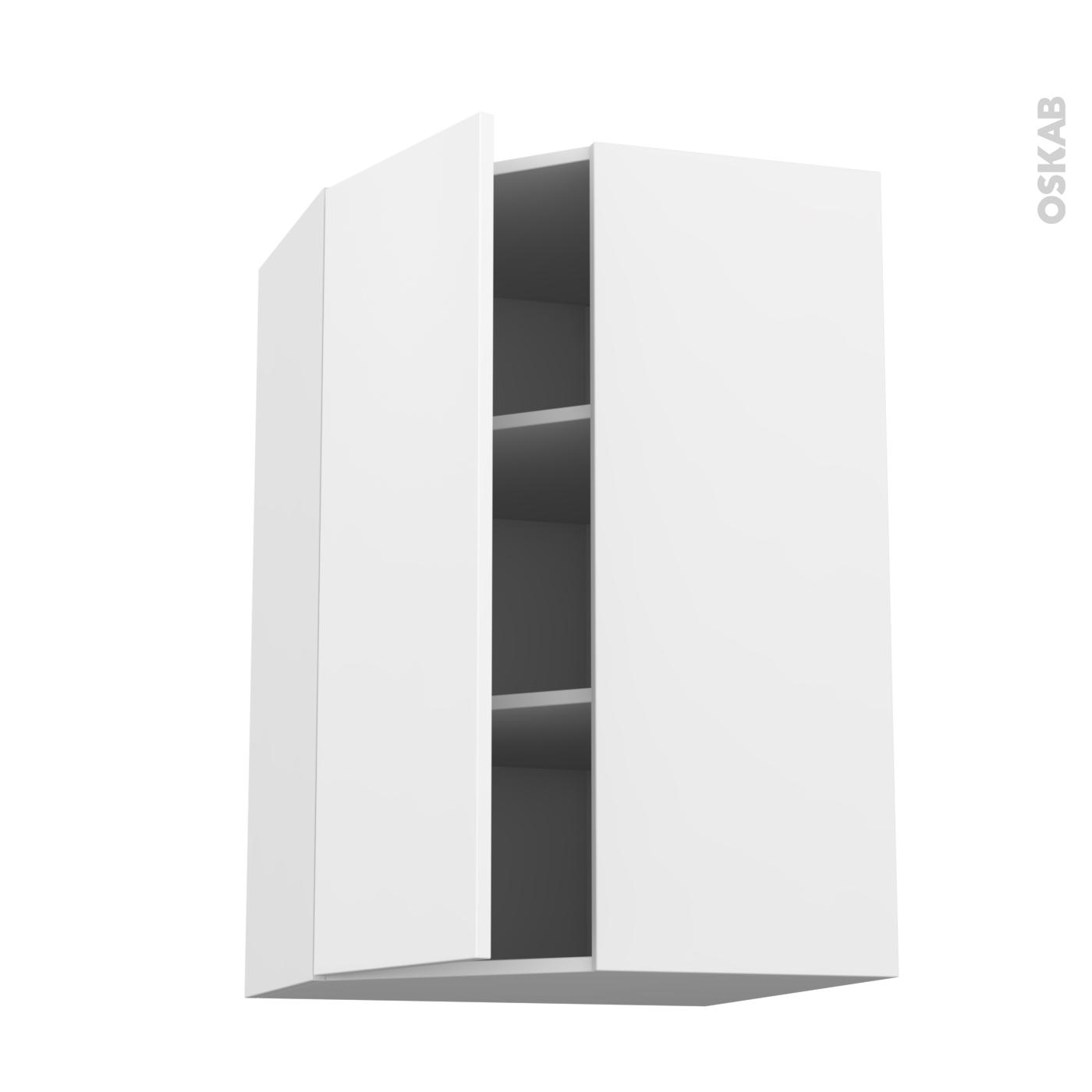 meuble de cuisine angle haut ginko blanc 1 porte n 23 l40 cm l65 x h92 x p37 cm