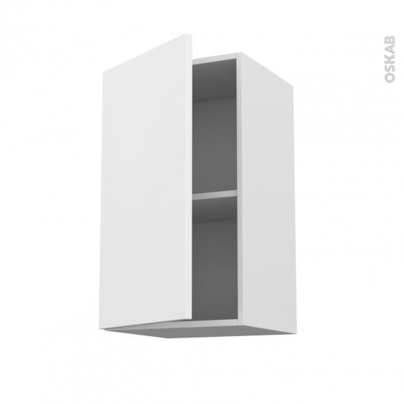 meuble de cuisine haut ouvrant ginko blanc 1 porte l40 x h70 x p37 cm