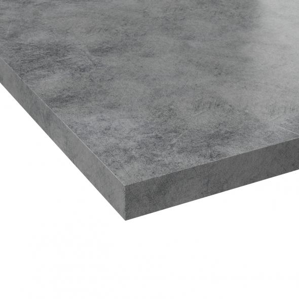 plan de travail cuisine n 508 decor beton gris clair stratifie chant coordonne l204 x l62 x 3 8cm planeko