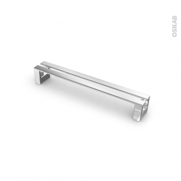 poignee de meuble de cuisine n 1 chrome 17 cm entraxe 160 mm sokleo