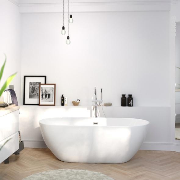 baignoire ilot ovale 170x80 cm acrylique renforce bahia