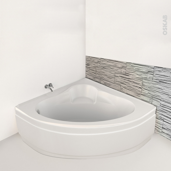 baignoire angle 135x135 cm acrylique renforce belis
